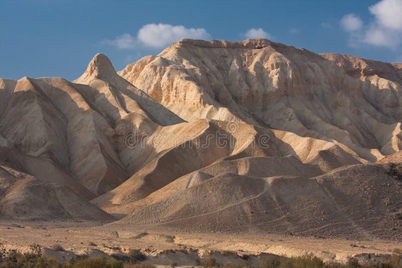 Ландшафт пустыни, Negev, Израиль стоковые фото