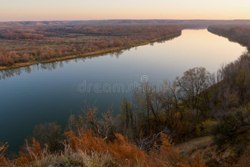 Ландшафт реки 'Дон' стоковое фото rf