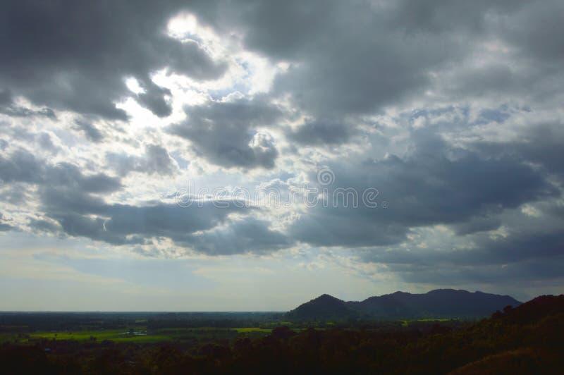 Ландшафт сельской местности от горы Khao Lon в Таиланде стоковые изображения rf