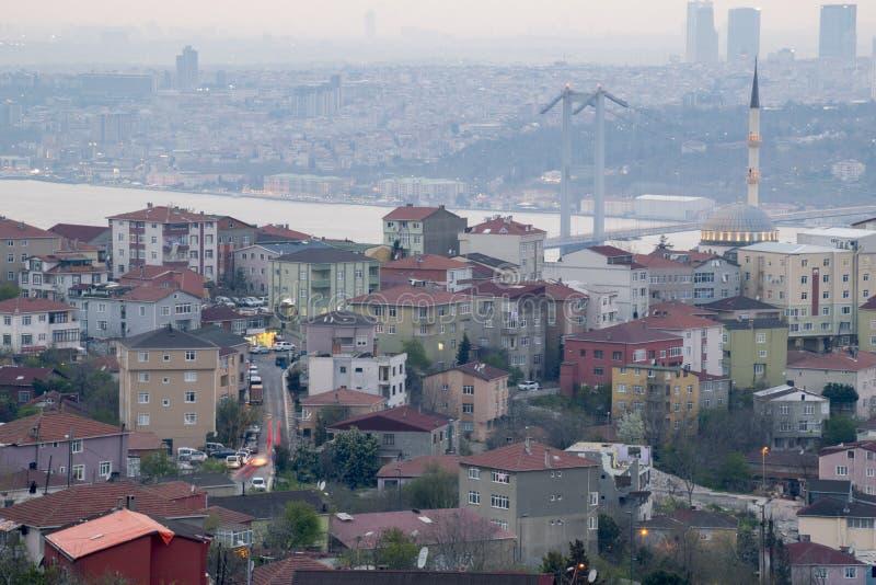 Ландшафт Стамбула от мечети Camlica стоковое фото rf