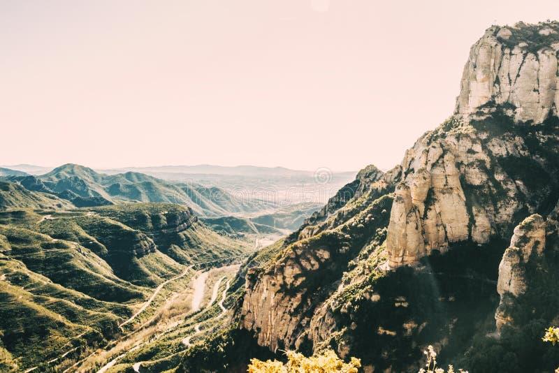 Ландшафт с взглядами от горы Монтсеррата стоковое фото