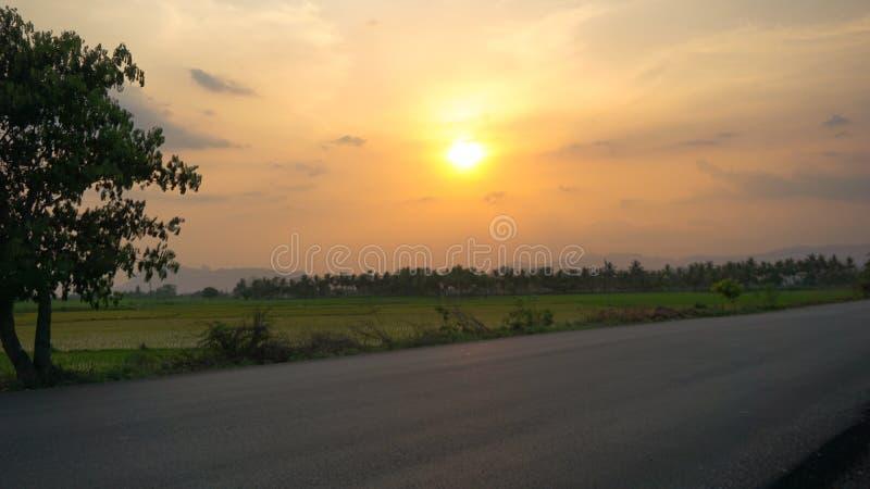 Ландшафт с взглядом дороги стоковые изображения rf