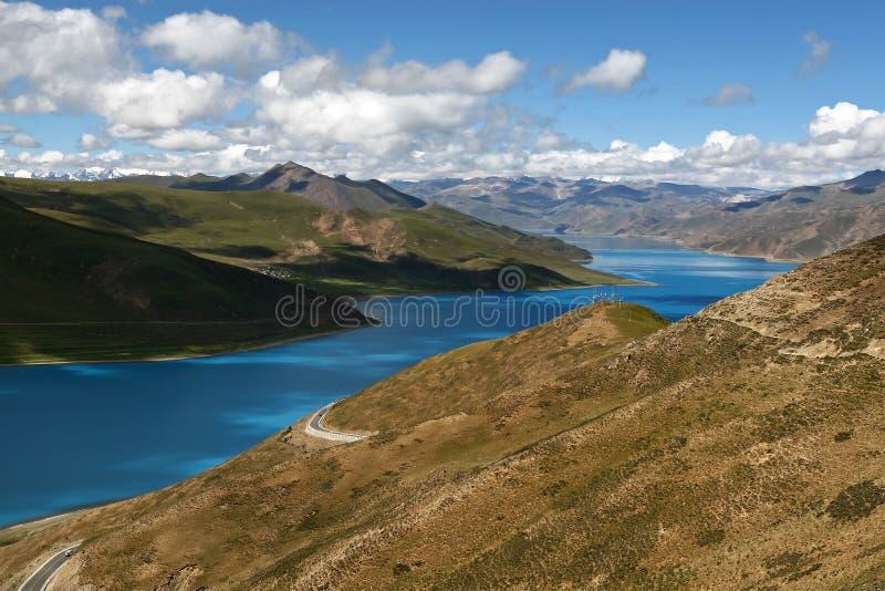 ландшафт Тибет типичный стоковые фото