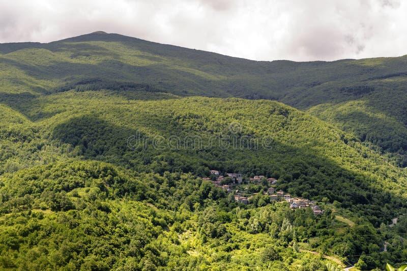 ландшафт Тоскана garfagnana стоковые изображения rf
