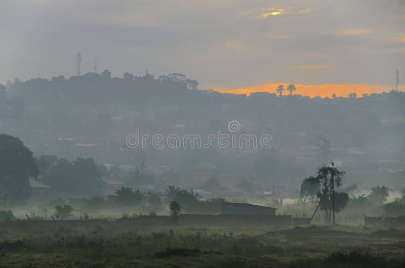 Ландшафт Уганды стоковая фотография