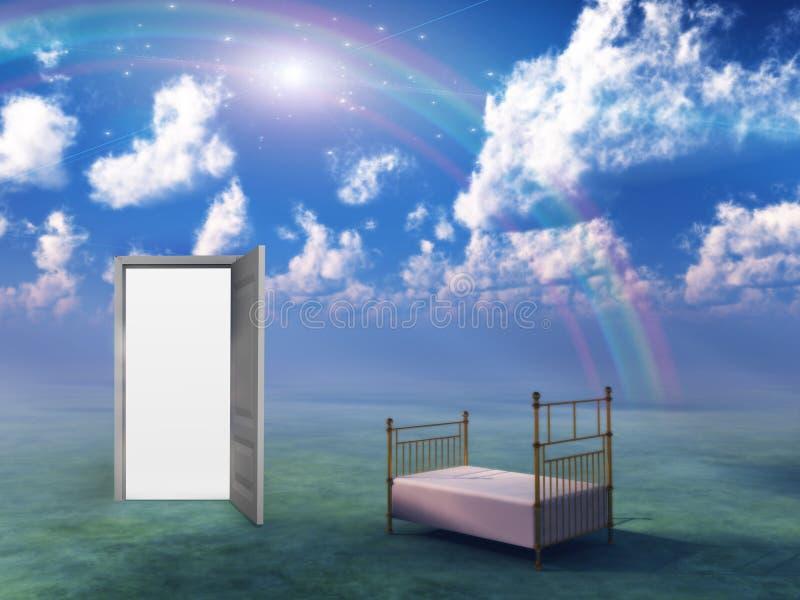 ландшафт фантазии кровати бесплатная иллюстрация