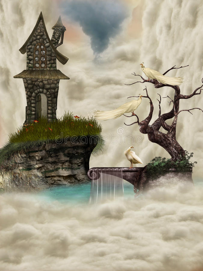 ландшафт фантазии иллюстрация штока