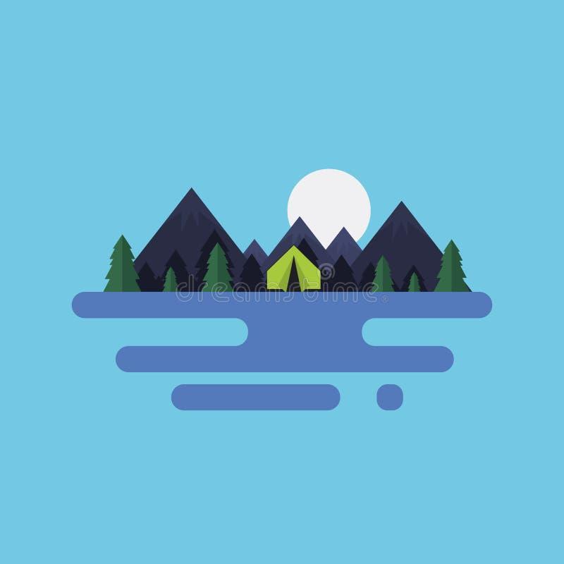 Ландшафт шаржа плоско естественный бесплатная иллюстрация