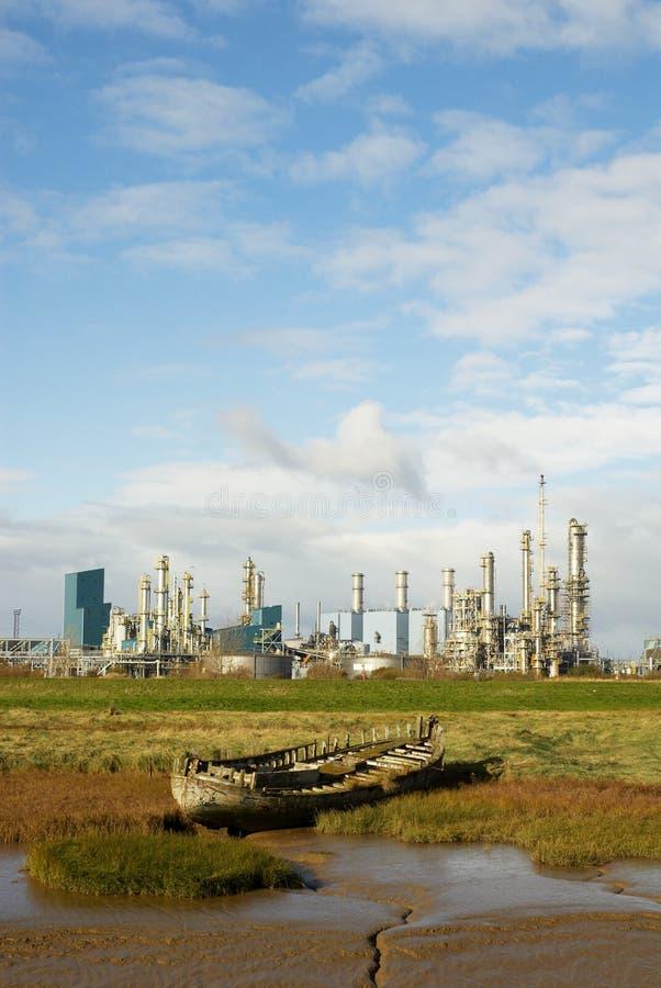 ландшафт шлюпки промышленный стоковое изображение