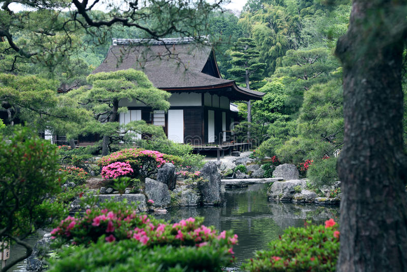 ландшафт японца сада стоковая фотография