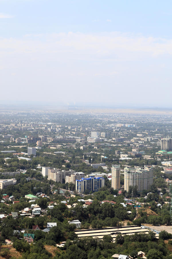 Ландшафт Almaty стоковые изображения