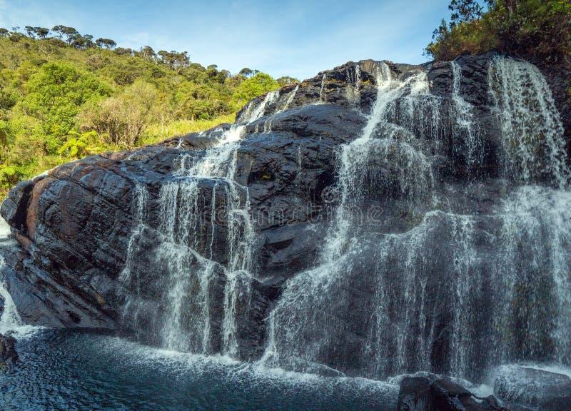 Ландшафт Baker's горы водопада понижается в Na равнин Horton стоковые фотографии rf
