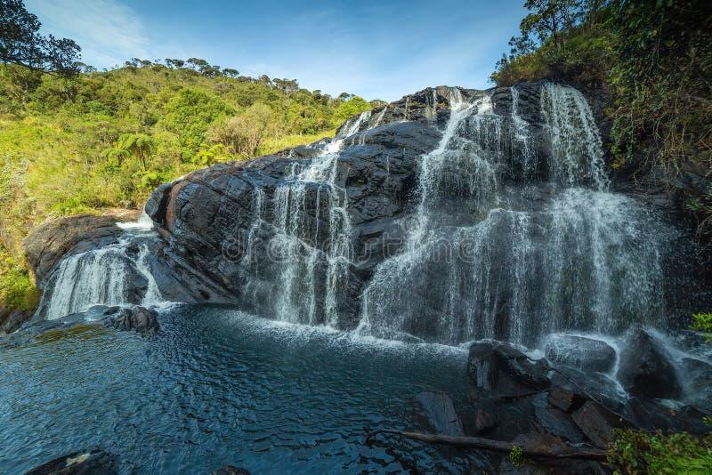 Ландшафт Baker's горы водопада понижается в Na равнин Horton стоковые фото