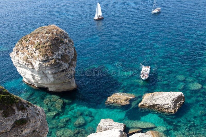Ландшафт Bonifacio - Корсики - Франции стоковое изображение