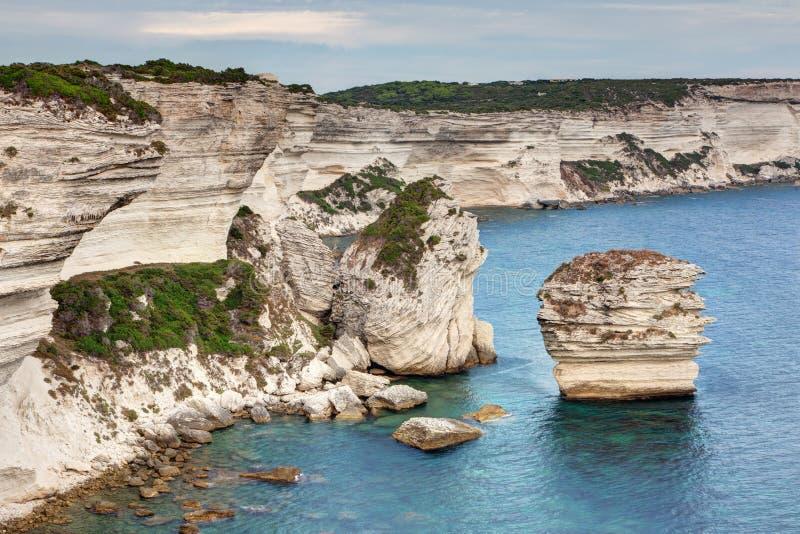 Ландшафт Bonifacio - Корсики - Франции стоковая фотография rf