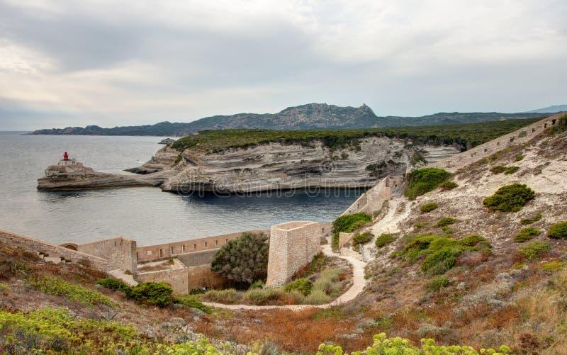 Ландшафт Bonifacio - Корсики - Франции стоковые изображения rf