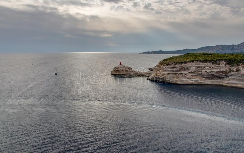 Ландшафт Bonifacio - Корсики - Франции стоковая фотография