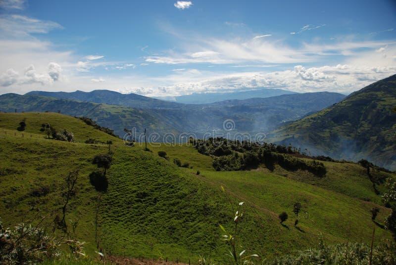 ландшафт ecuadorian стоковое изображение rf