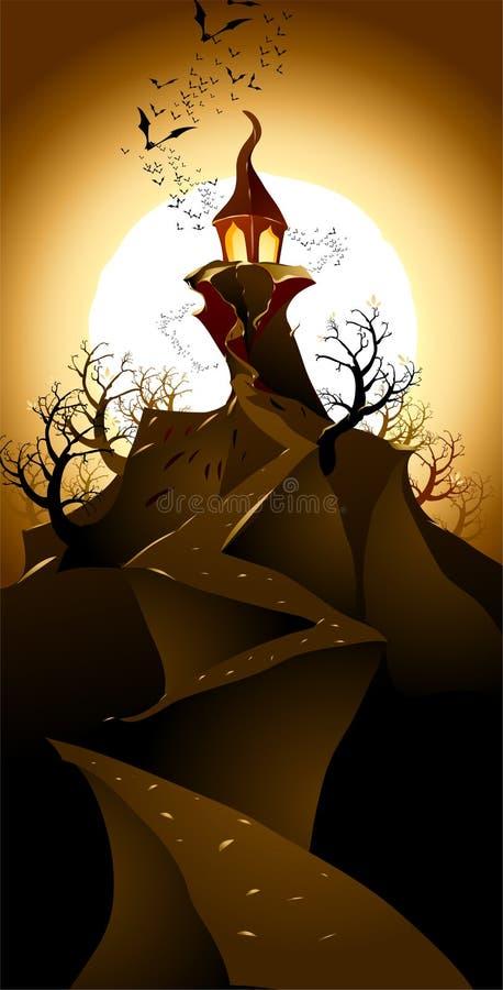 ландшафт halloween иллюстрация штока