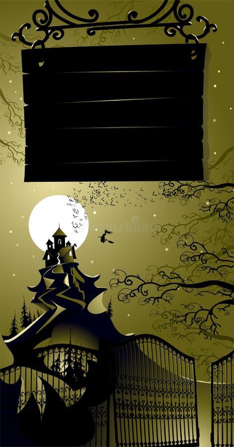 ландшафт halloween иллюстрация вектора