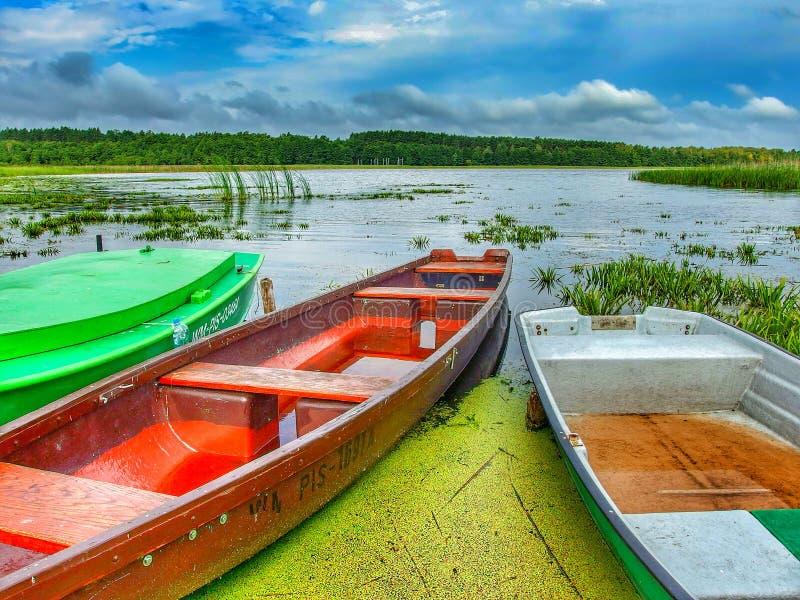 Ландшафт Masuria в Польше Озеро Seksty стоковое изображение