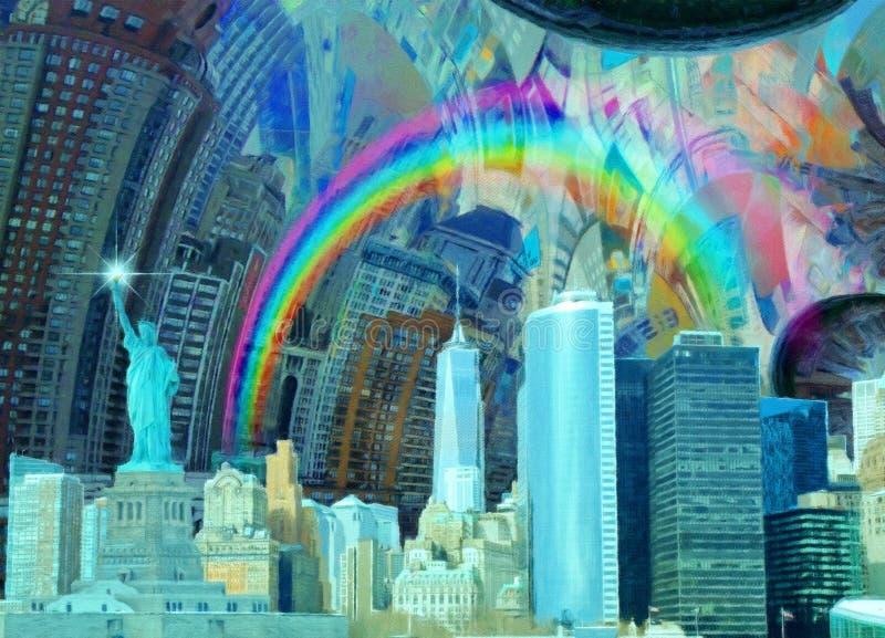 Ландшафт NYC иллюстрация вектора