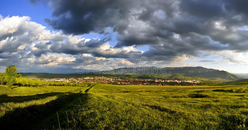 ландшафт transylvania стоковые фото