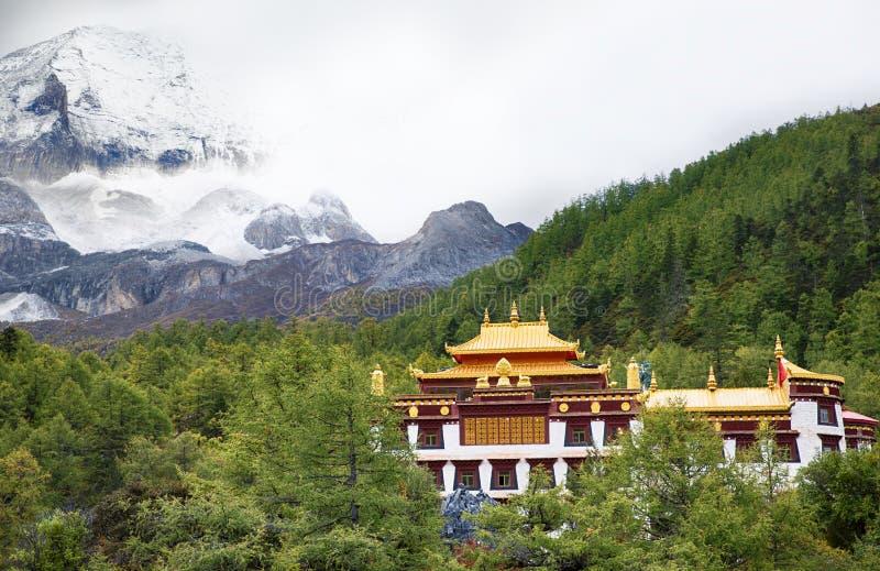 Ландшафтная архитектура виска Chong Gu стоковые изображения