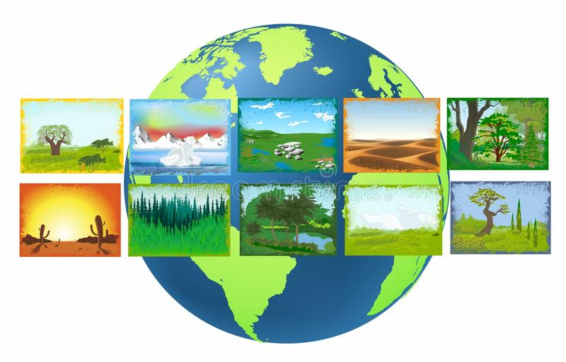 Ландшафты земли бесплатная иллюстрация