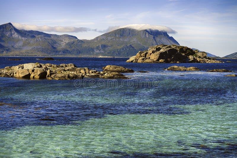 Ландшафты Lofoten стоковое изображение rf