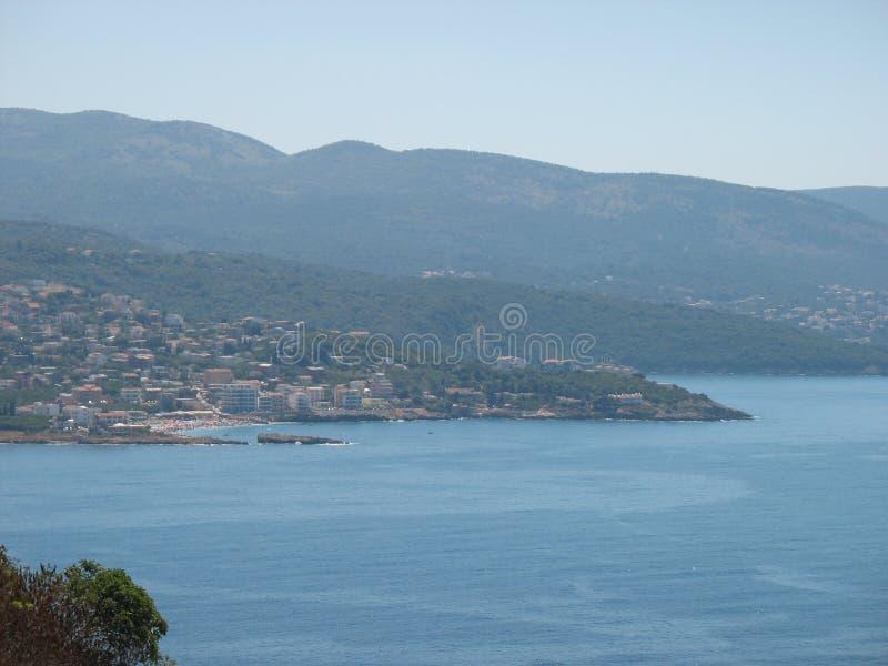 Ландшафт Адриатического моря стоковое изображение