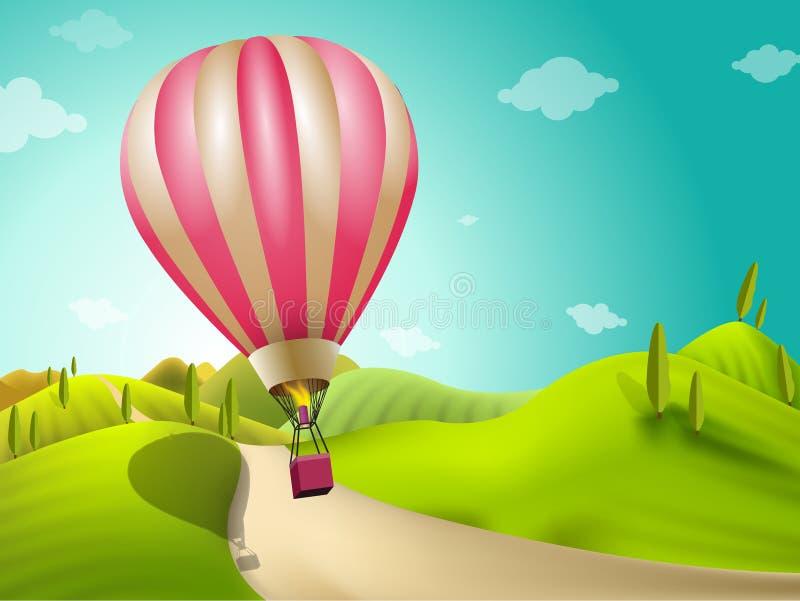 Ландшафт воздушного шара стоковые изображения rf