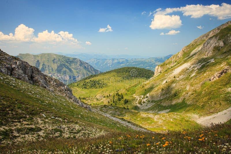 Ландшафт в горах посетителя стоковая фотография rf