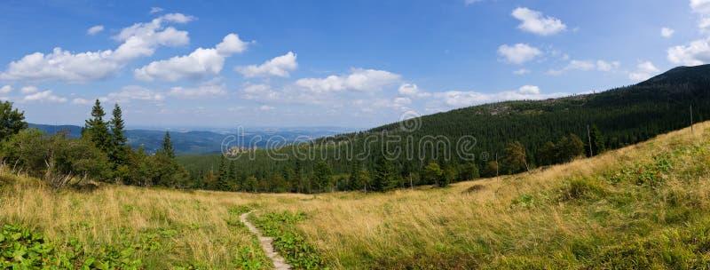 Ландшафт в горах Karkonosze, Польша стоковая фотография