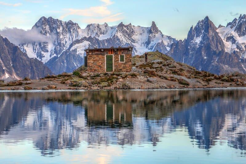 Ландшафт в европейце Альпах стоковые фото