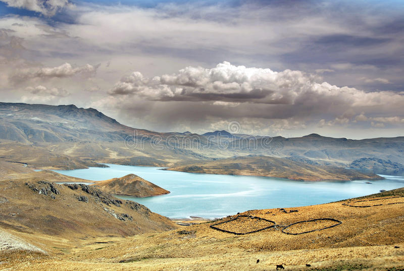 Ландшафт в Перу стоковое изображение rf