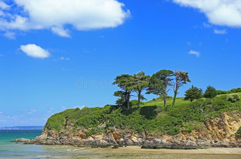 Ландшафт в побережье Бретани Атлантики стоковые фото