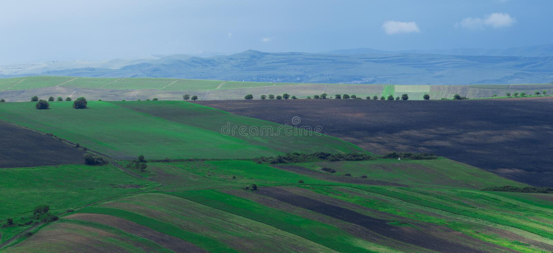 Ландшафт в Трансильвании, Румынии стоковые изображения rf