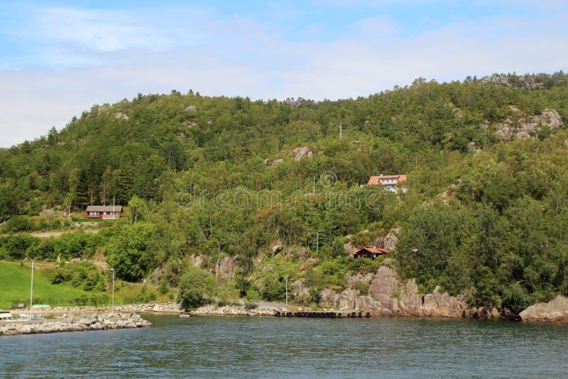 Ландшафт в южной Норвегии стоковое изображение