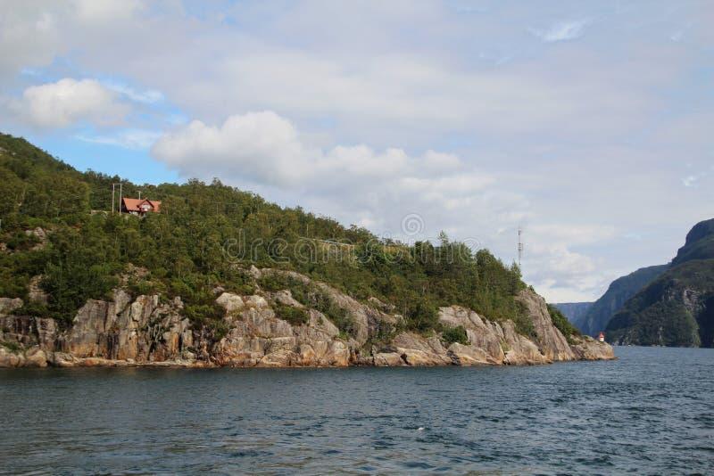 Ландшафт в южной Норвегии стоковое фото