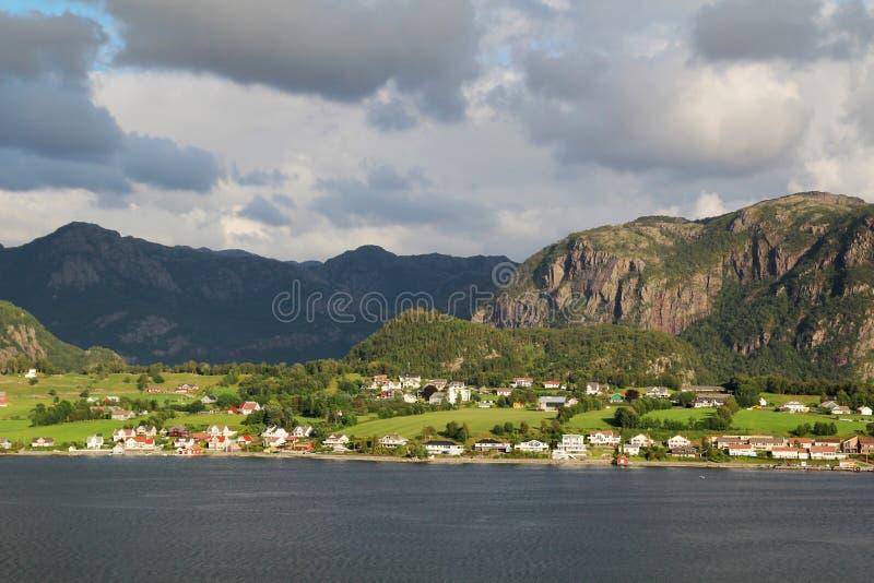 Ландшафт в южной Норвегии стоковая фотография