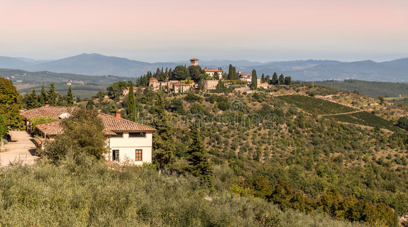 Ландшафт в Chianti Италии стоковые изображения