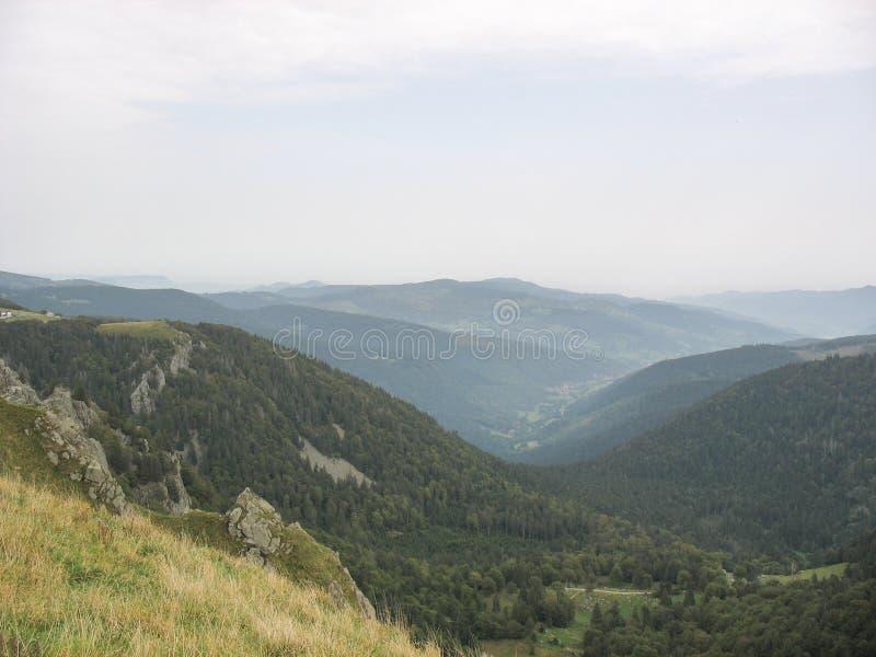 Ландшафт в d'Alsace Вогезы и баллона стоковая фотография rf