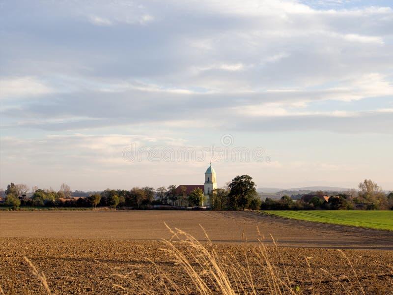 Ландшафт в Tarczew, Польше стоковые изображения rf