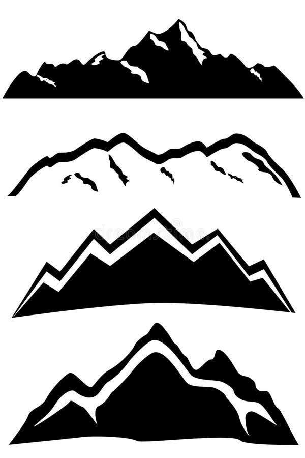 Ландшафт горных пиков бесплатная иллюстрация