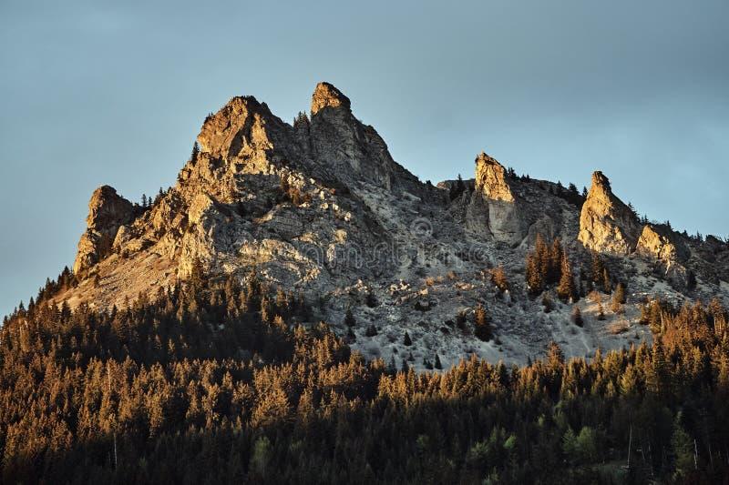 Ландшафт горы в Альпах стоковая фотография rf