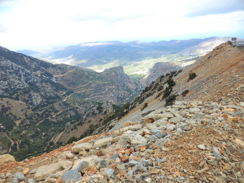 Ландшафт горы в Греции стоковые изображения rf
