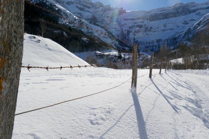 Ландшафт горы в зиме стоковое фото rf