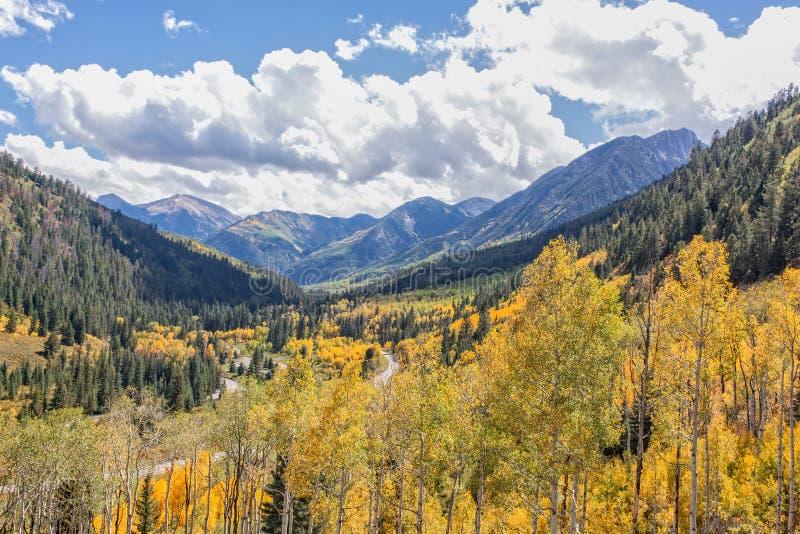 Ландшафт горы Колорадо в падении стоковые фото