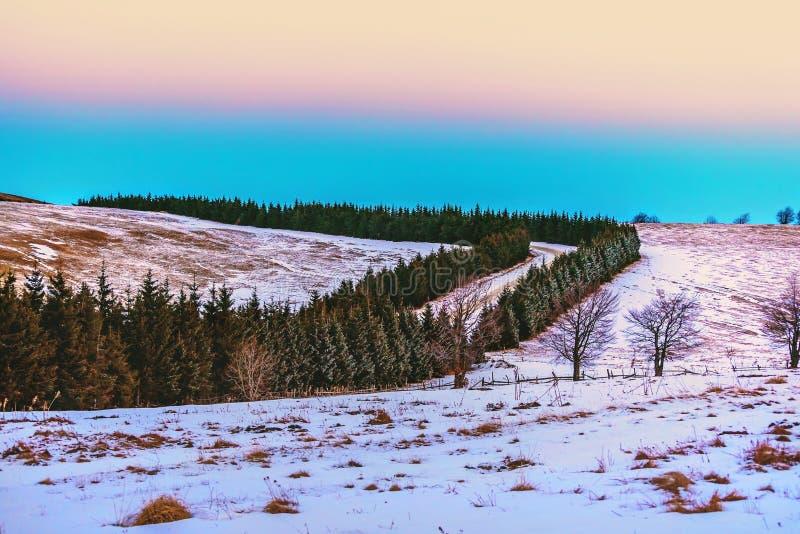 Ландшафт горы снега стоковые изображения